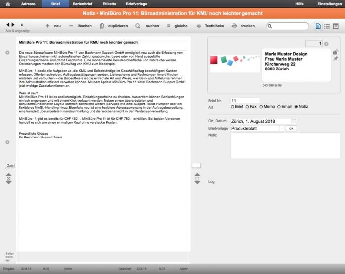 Serienbrief MiniBüro 11