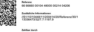 Zusätzliche Rechnungsinformationen gemäss der Swico Spezifikation 1.2